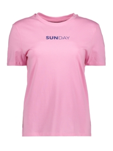 Only T-shirt onlWEEKDAY S/S TOP BOX JRS 15150900 Begonia Pink/SUNDAY1