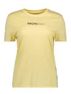 Only T-shirt onlWEEKDAY S/S TOP BOX JRS 15150900 Yellow Pear/MONDAY1