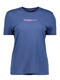Only T-shirt onlWEEKDAY S/S TOP BOX JRS 15150900 True Navy/TRUESDAY1