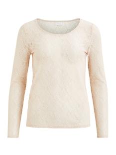 Vila T-shirt VIFREJ L/S T-SHIRT/TB 14044378 Peach Blush