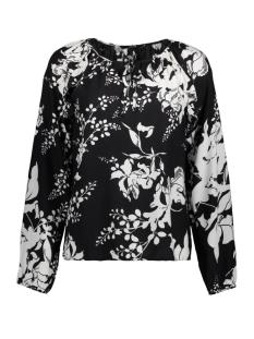 Vero Moda T-shirt VMKANA VISC L/S TOP D2-2 10196930 Black/KANA SNOW