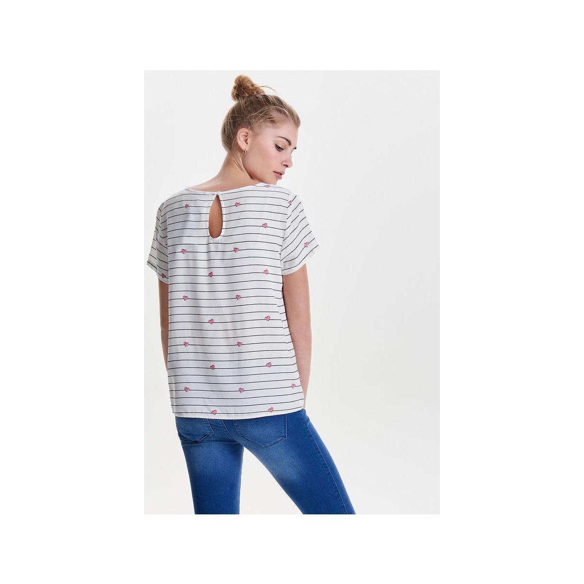 onlfirst ss mix aop top  noos wvn 15138761 only t-shirt cloud dancer/hearts