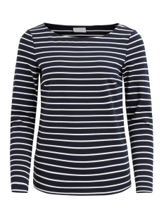 Vila T-shirt VITINNY L/S BOATNECK TOP-NOOS 14044578 Total Eclipse