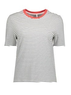 Only T-shirt onlLIVE LOVE TRENDY STRIPE SS ONECK NOOS 15139111 White/TINY BLACK