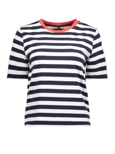 Only T-shirt onlLIVE LOVE TRENDY STRIPE SS ONECK 15139111 Night Sky/WIDE WHITE