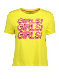 Only T-shirt onlMARIA S/S 90s/GIRLS TOP BOX JRS 15150922 Golden Kiwi/GIRLS1