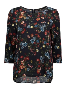 Only T-shirt onlCASA AOP LUX 3/4 SLEEVE TOP WVN 15155342 Night Sky/FLOWER BOO