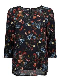 Only T-shirt onlCASA AOP LUX 3/4 SLEEVE TOP WVN 15155342 Night Sky/FLOWER BOO