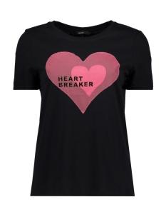 vmjenny s/s t-shirt d2-2 10196223 vero moda t-shirt black/azalea - h