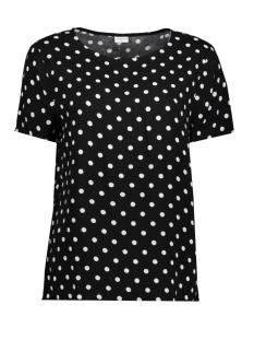 Jacqueline de Yong T-shirt JDYANN S/S TOP WVN 15146313 Black / Ann Dot