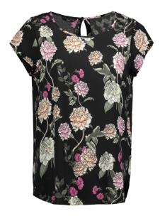 Only T-shirt onlNOVA  LUX AOP S/S TOP WVN 15156870 Black/REBEL FLOW