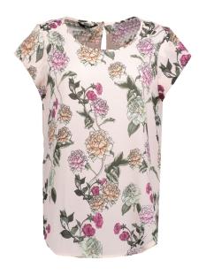 Only T-shirt onlNOVA  LUX AOP S/S TOP WVN 15156870 Strawberry/REBEL FLOW