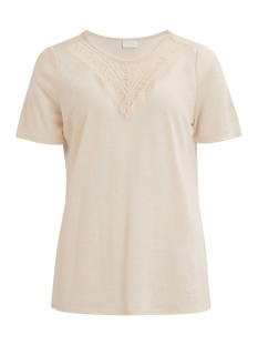 Vila T-shirt VISUMI S/S  T-SHIRT/PB 14044437 Peach Blush