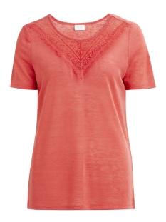Vila T-shirt VISUMI S/S  T-SHIRT/PB 14044437 Spiced Coral