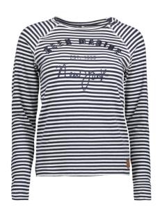 Only T-shirt onlVIVIAN L/S ONLY/MARINE TOP BOX J 15150910 Cloud dancer/BLUE