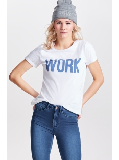 onlriva ss tee noos 15152829 only t-shirt bright white/work w/oly