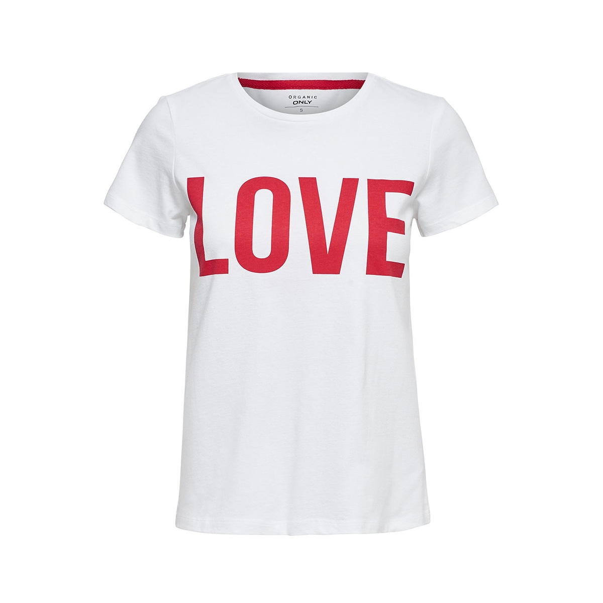 onlriva ss tee noos 15152829 only t-shirt bright white/love w/hig