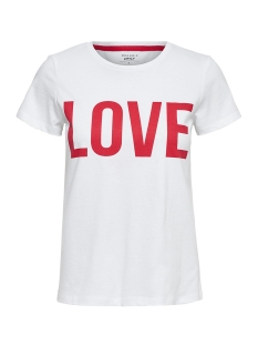 Only T-shirt onlRIVA SS TEE NOOS 15152829 Bright White/LOVE W/HIG
