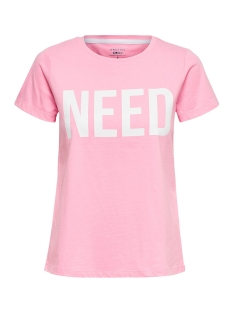 Only T-shirt onlRIVA SS TEE NOOS 15152829 Prism Pink/NEED W/BRI