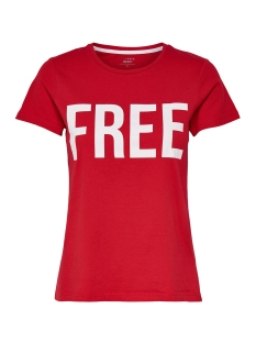 onlriva ss tee noos 15152829 only t-shirt high risk red/free