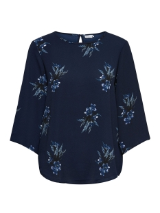 Jacqueline de Yong Blouse JDYRUN 3/4 BLOUSE WVN 15146215 Patriot Blue/RUN FLOWER
