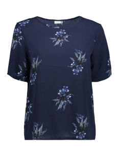 Jacqueline de Yong T-shirt JDYRUN S/S TOP 01 WVN 15143230 Patriot Blue