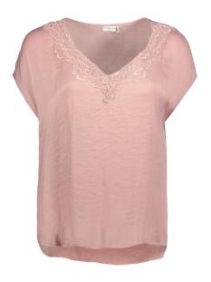 Jacqueline de Yong T-shirt JDYAPPA S/S LACE TOP WVN 15148133 Woodrose/DTM LACE