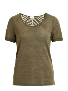 Vila T-shirt VISUMI S/S BACK LACE TOP-NOOS 14045847 Ivy Green