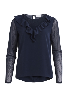 Vila T-shirt VICELLE L/S TOP 14045327 Total Eclipse
