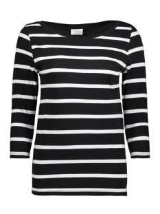 Vila T-shirt VISTRIPED 3/4 SLEEVE TOP-FAV 14045652 Black/OPT.SNOW