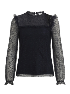 Vila T-shirt VIMISTO L/S LACE TOP 14045924 Total Eclipse
