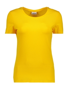 Noisy may T-shirt NMSUPER S/S TOP COLOR 27001499 Lemon Chrome