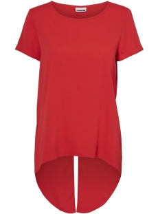 Noisy may T-shirt NMCOSMO S/S FRED TOP 2 27001779 Flame Scarlet