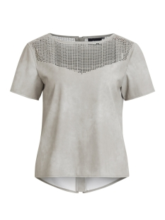 Object T-shirt OBJINDY PU S/S TOP 95 23026408 Oatmeal