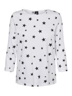Vero Moda T-shirt VMMALKA 3/4 TOP EXP 10201524 Bright White/Big Star B