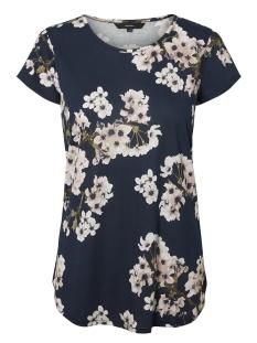 Vero Moda T-shirt VMSPICY BOCA SS O-NECK PRINTED TOP 10199378 Navy Blazer/ Occasion P