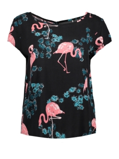 jdymaude s/s top wvn exp 15155745 jacqueline de yong t-shirt black/flamingo