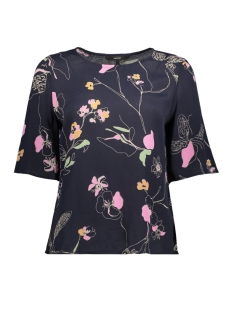 Vero Moda T-shirt VMATHEA 2/4 TOP 10194566 Night Sky/THEA AOP
