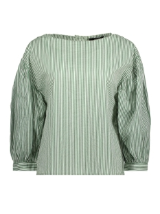 Vero Moda Blouse VMMINNIE 7/8 TOP 10195757 Dark Ivy/STRIPED