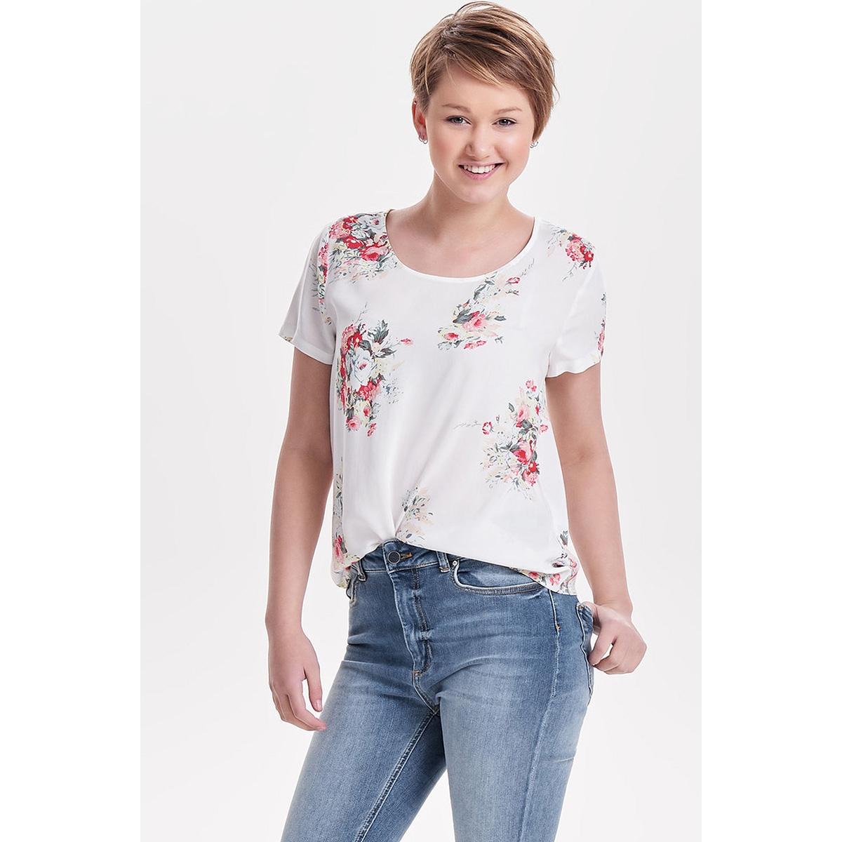 onlfirst ss mix aop top  noos wvn 15138761 only t-shirt cloud dancer/flowers