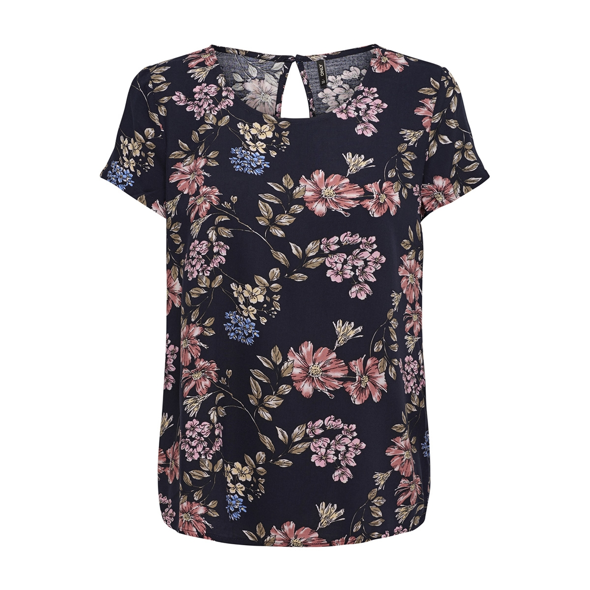 onlfirst ss mix aop top  noos wvn 15138761 only t-shirt night sky/flower