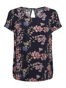 onlfirst ss mix aop top  noos wvn 15138761 only t-shirt night sky/flower