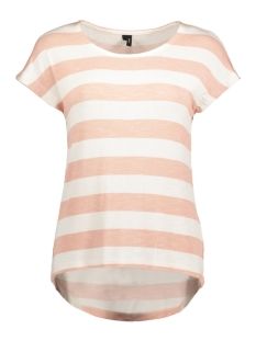 Vero Moda T-shirt VMWIDE STRIPE S/L TOP NOOS 10190017 Roze/ Snow White