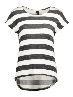 Vero Moda T-shirt VMWIDE STRIPE S/L TOP NOOS 10190017 Zwart/Snow White