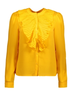 Only Blouse onlMILAN L/S PLEAT FLOUNCE TOP WVN 15146903 Golden Kiwi