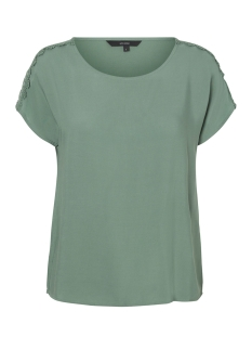 Vero Moda T-shirt VMLACEY BOCA SS TOP 10194916 Dark Ivy