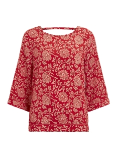 Object T-shirt OBJAPALA 3/4 TOP A PS 23027312 Haute Red/ 2ND COLOR