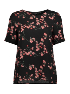Vero Moda T-shirt VMLALA S/S MIDI TOP D2-3 10197901 Black/LALA PRINT