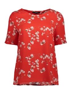 Vero Moda T-shirt VMLALA S/S MIDI TOP D2-3 10197901 Poppy Red/LALA PRINT