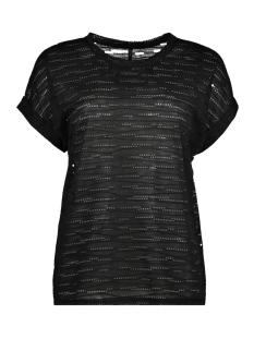 Only T-shirt onlHANNA S/S TOP JRS 15153437 Black